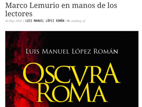 Entrevista en Zenda sobre el nacimiento literario de Marco Lemurio