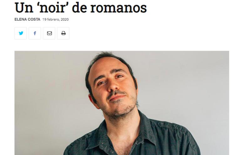 """Reportaje en El cultural sobre """"Oscura Roma"""""""