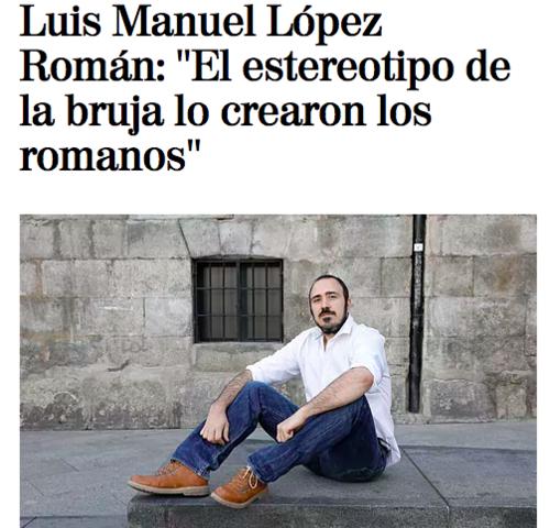 """Entrevista en el periódico El Mundo sobre la publicación de """"Oscura Roma"""""""